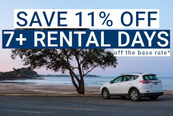 Save 11% Off 7+ Days on Rental Car Bookings