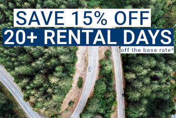 Save 15% Off 20+ Days on Rental Car Bookings