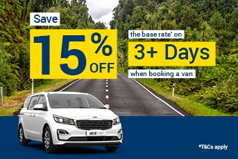 Save 15% Off Minivans for 3+ Day Rentals