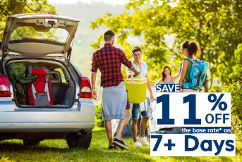 Save 11% Off 7+ Day Rentals