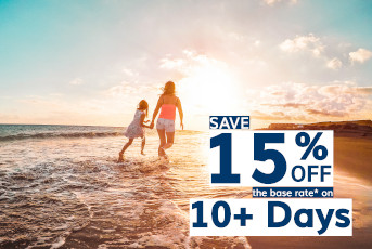 Save 15% Off 10+ Day Rentals