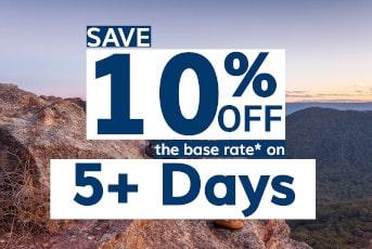 Save 10% Off 3+ Days
